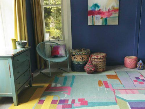 Alfombra con diseño abstracto de lana en Decora-Zone de Bilbao