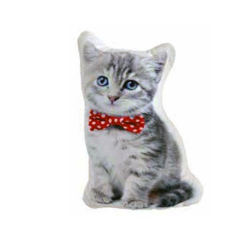 Cojín gato con pajarita con relleno en Decora-Zone