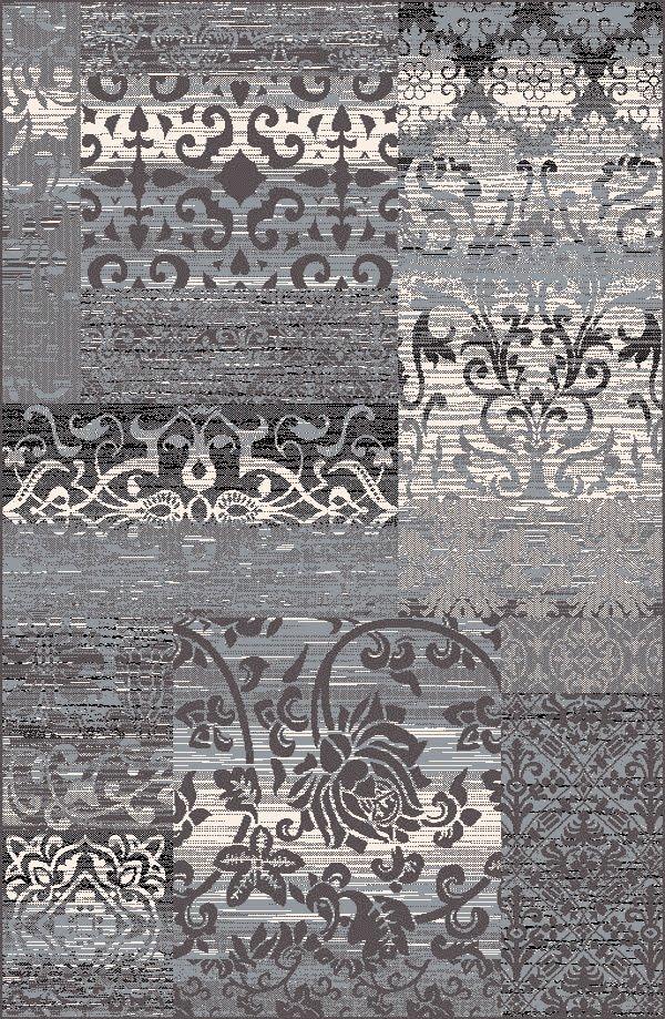 Alfombra acrílica de Sualsa con diseño patchwork en Decora-Zone de Bilbao