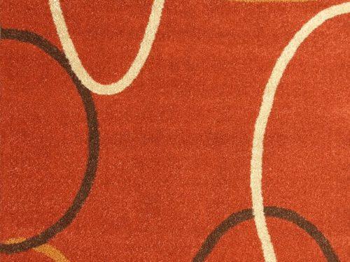 Alfombra acrílica frisse de Sualsa con diseño de semicírculos en Decora-Zone de Bilbao