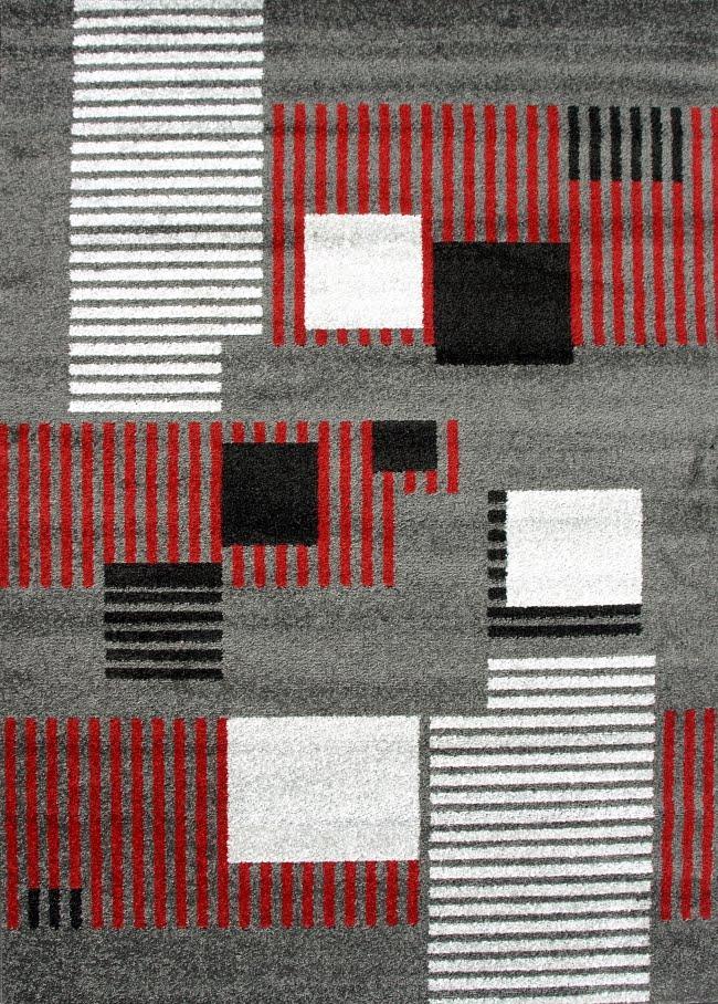 Alfombra acrílica frisse de Sualsa con diseño geométrico en Decora-Zone de Bilbao